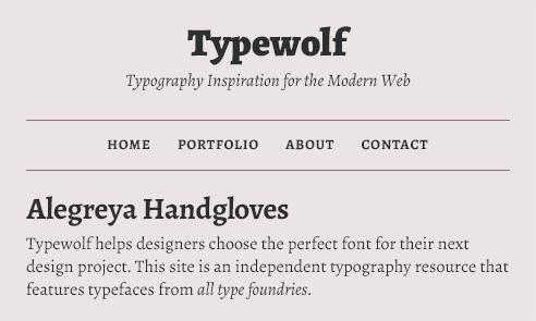 alegreya-font-sample
