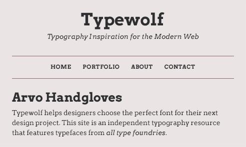arvo-font-sample