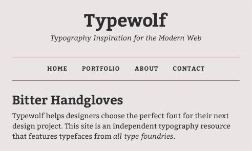 bitter-font-sample
