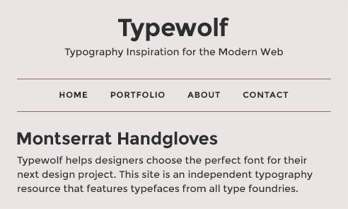 montserrat-font-sample
