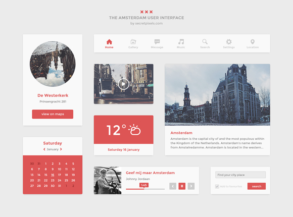 13-flat-UI-designs-download-free-PSD