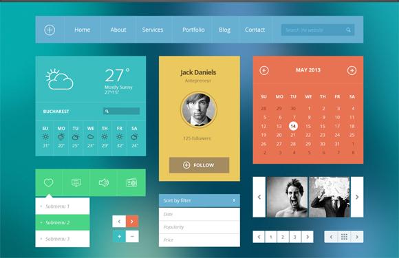 14-flat-UI-designs-download-free-PSD