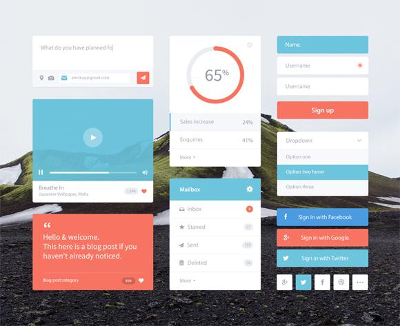 2-flat-UI-designs-download-free-PSD