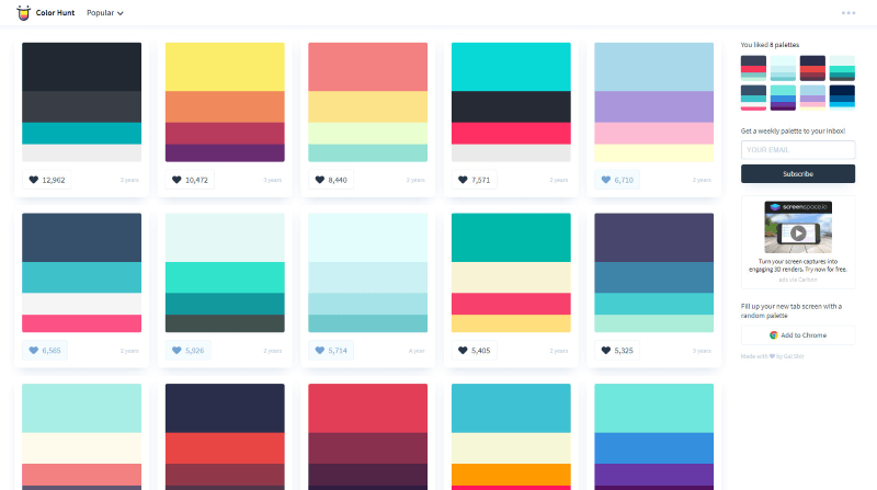 color hunt idesign