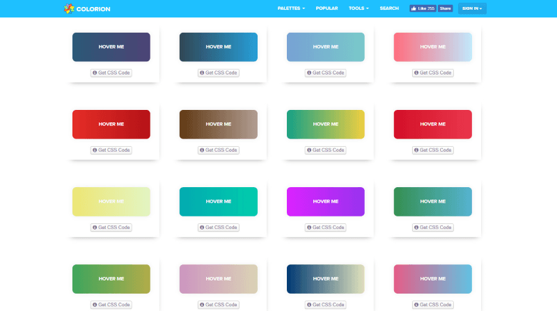 gradient buttons idesign