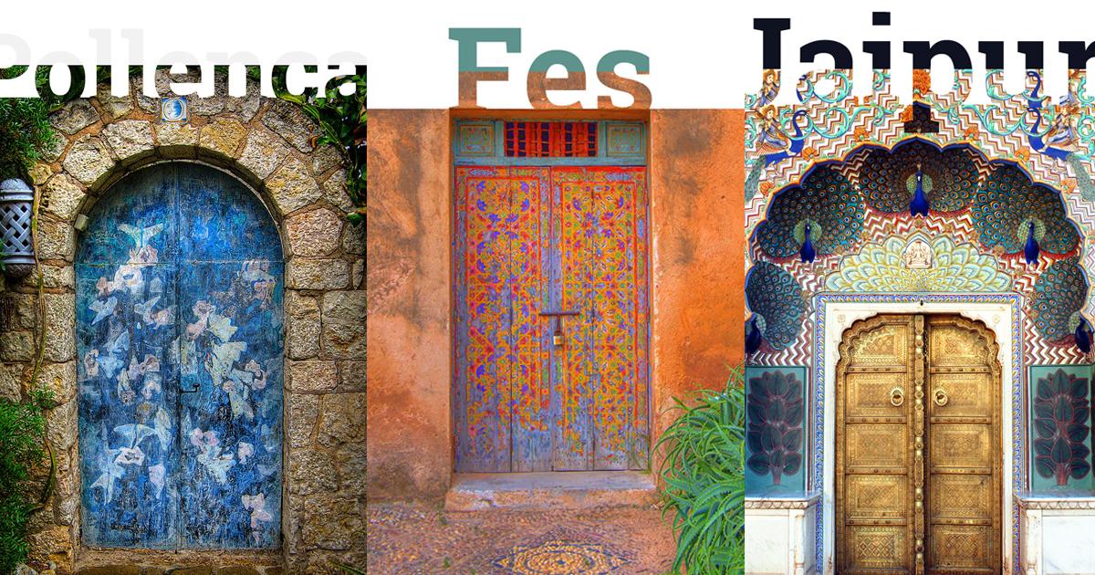 Sức hút kì lạ từ những cánh cửa đậm màu