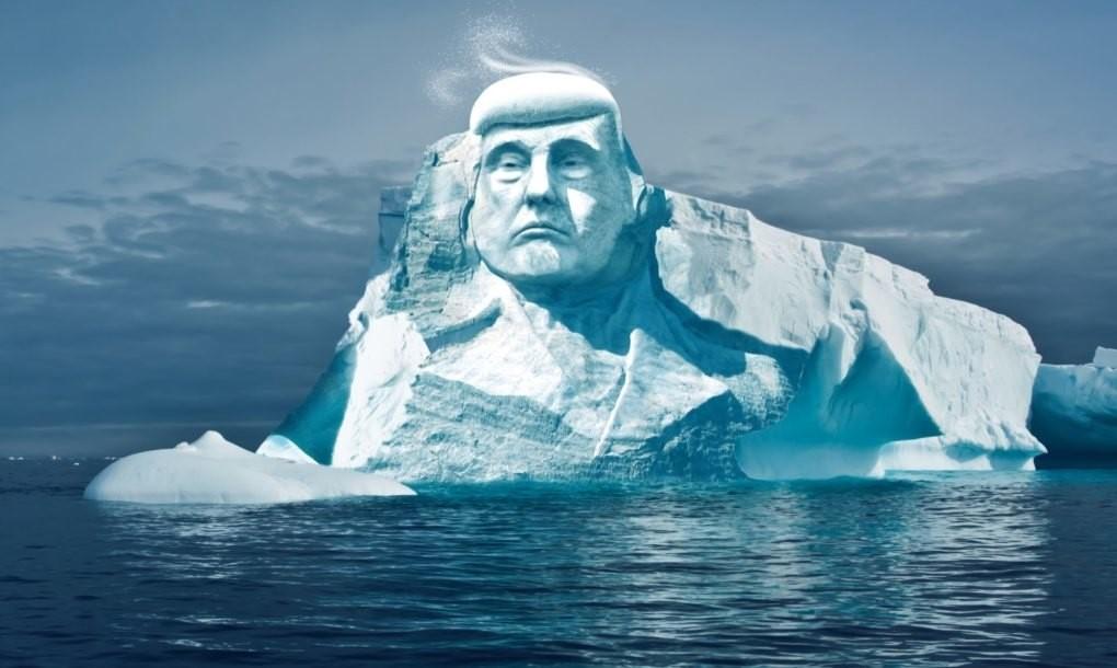 Tạc tượng Donald Trump trên băng Bắc Cực để chứng minh khí hậu đang biến đổi