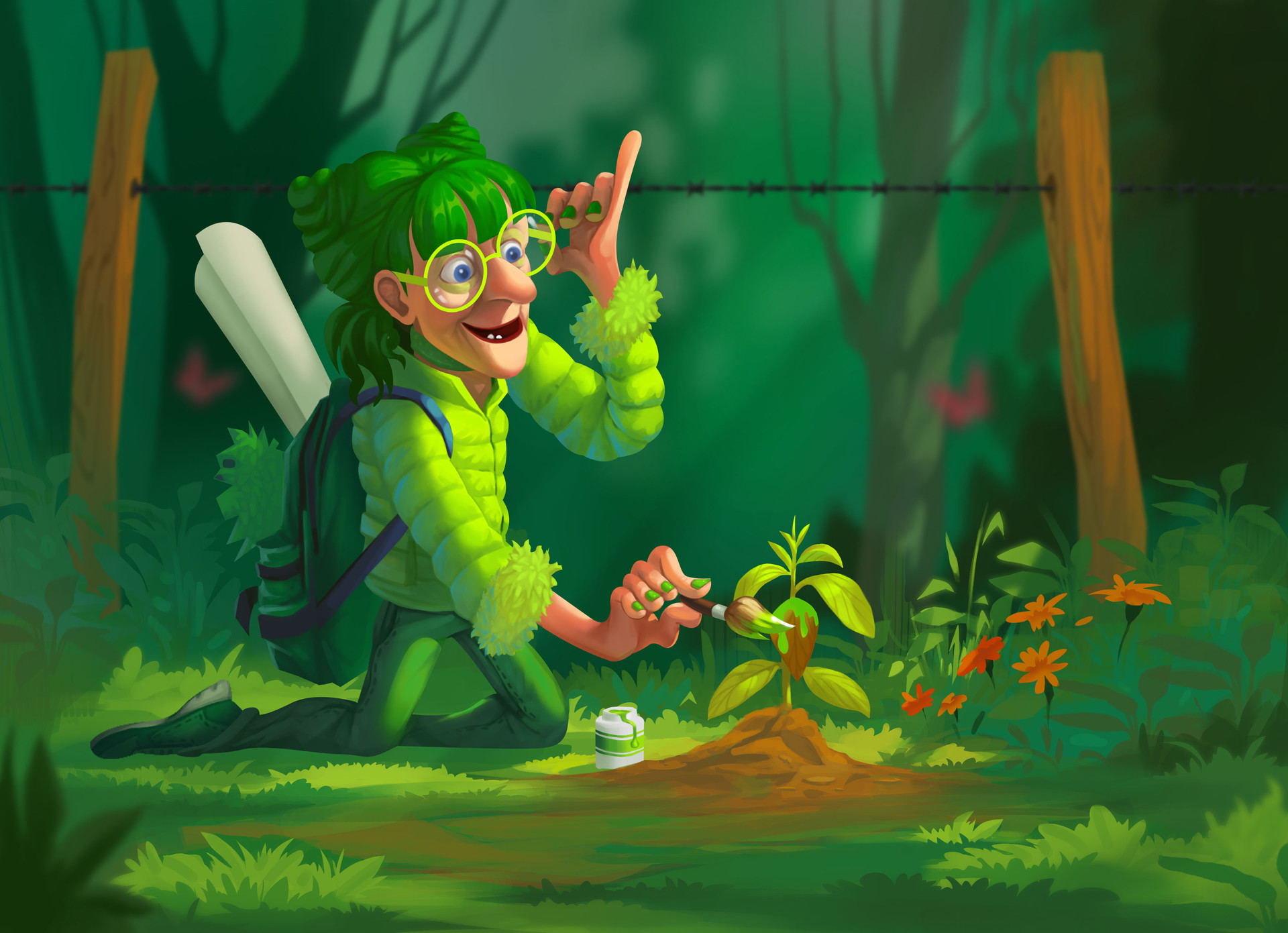 idesign green lady quy ba mau xanh 08