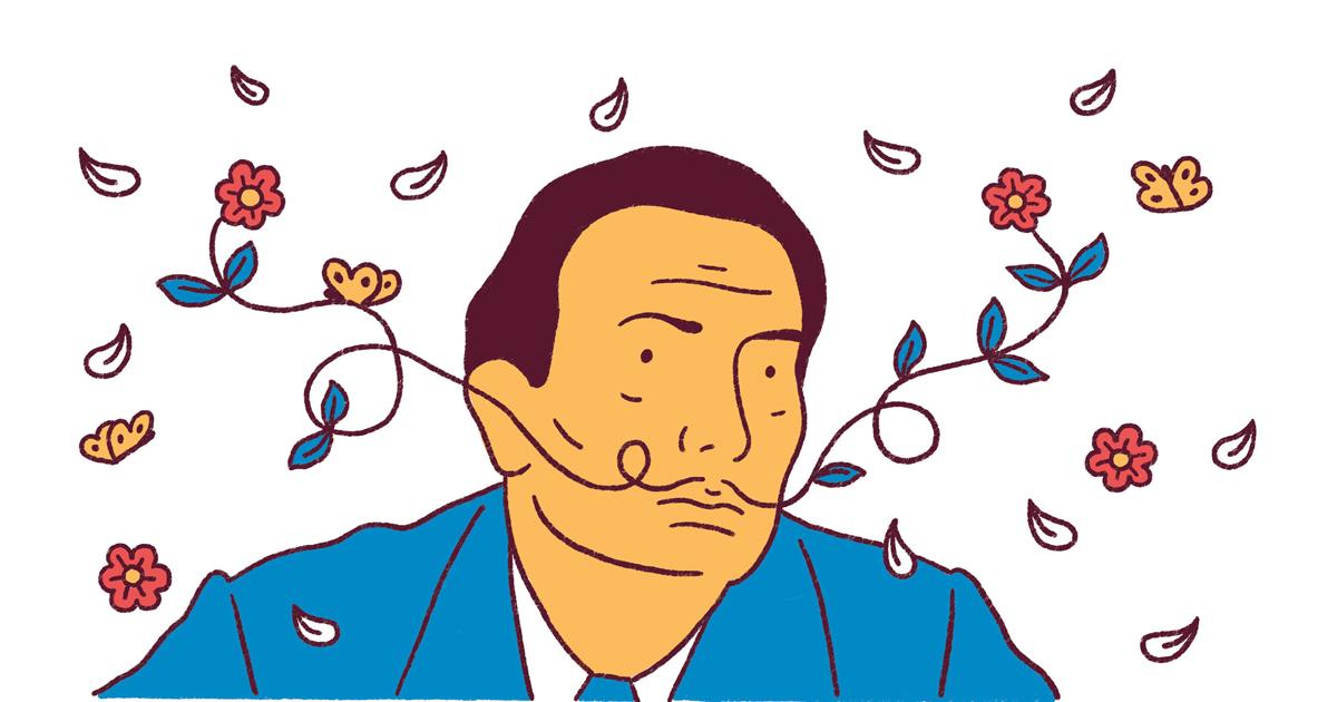 Minh hoạ truyện tranh về Salvador Dali của Fabien Roché