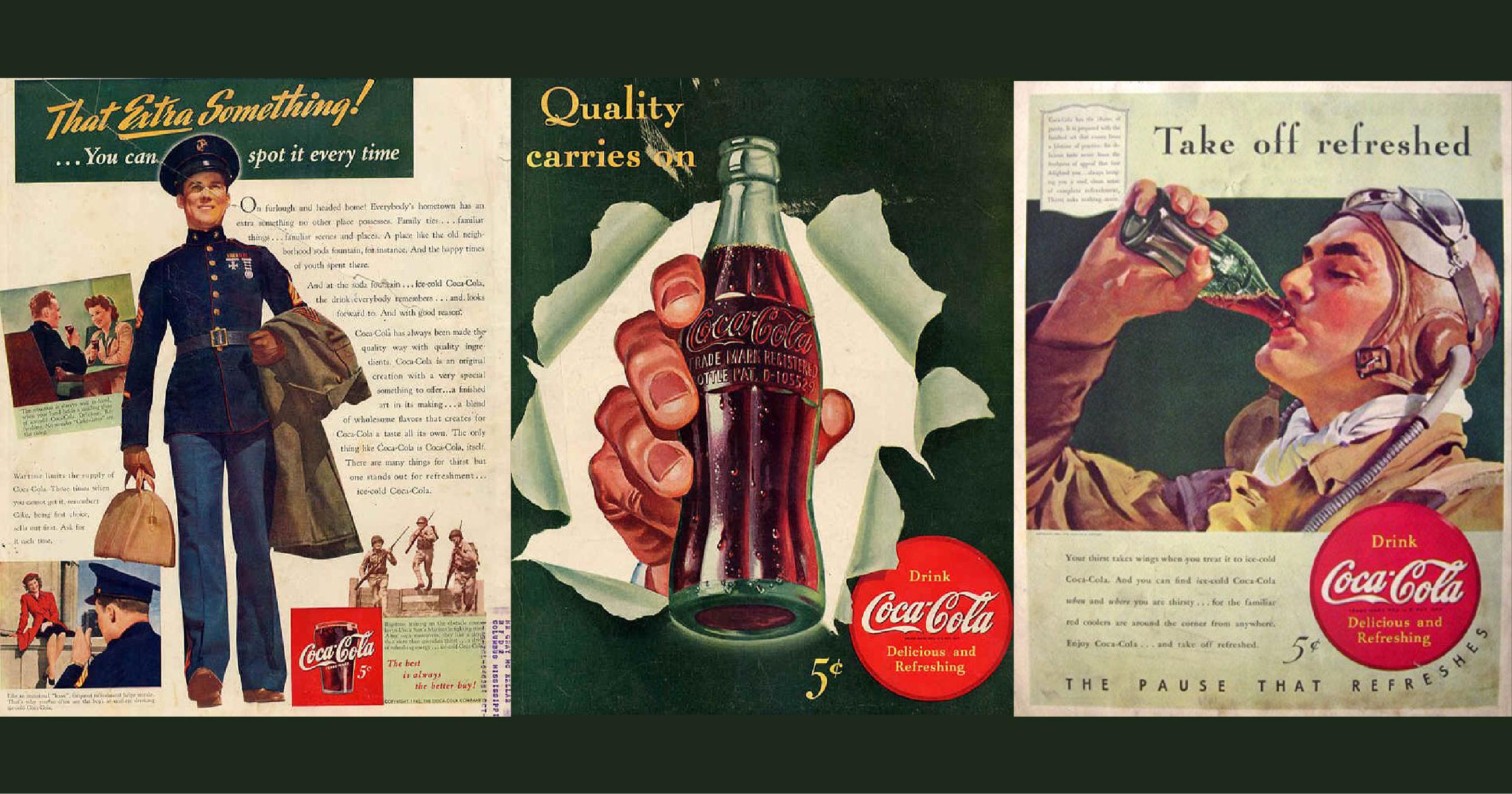 Quay ngược thời gian để chiêm ngưỡng các quảng cáo ấn tượng của Coca-Cola