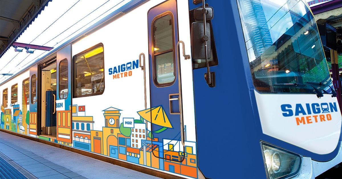 """Bộ nhận diện """"Tàu điện ngầm Saigon Metro"""" sinh động của sinh viên Tôn Đức Thắng"""