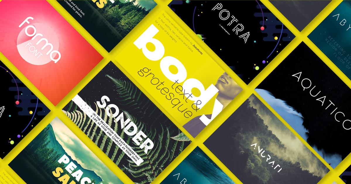 50 bộ phông chữ hiện đại và thời thượng cho mọi thiết kế (Phần 2)