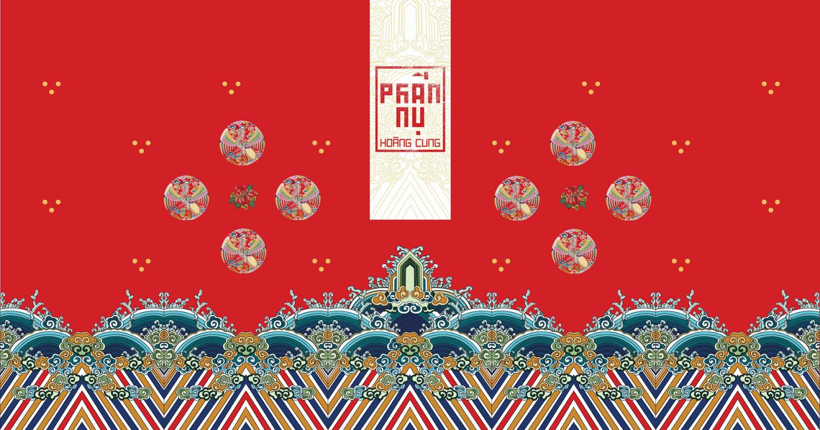 Bao bì Phấn nụ hoàng cung lấy cảm hứng từ phục trang Nhật Bình triều Nguyễn