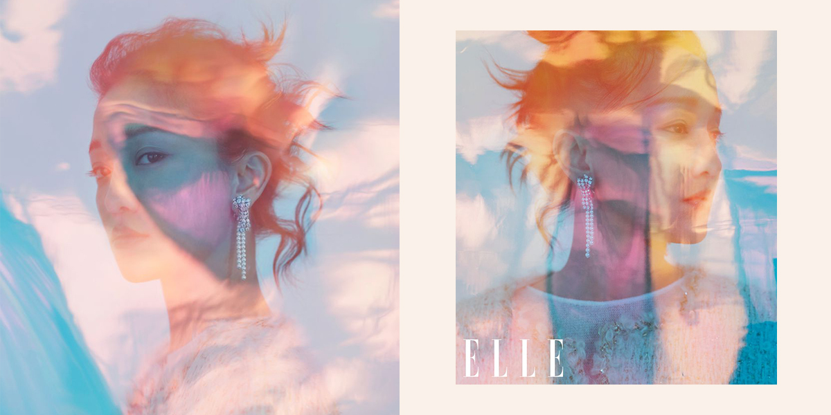 Châu Tấn xuất hiện trên trang bìa tạp chí ELLE tháng Năm 2019 với vẻ đẹp mỹ lệ