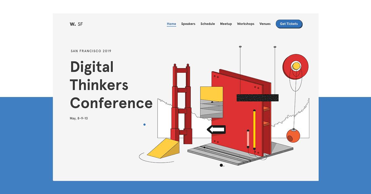 Trang web vui nhộn của Hội nghị Awwwards dành cho các tín đồ thiết kế