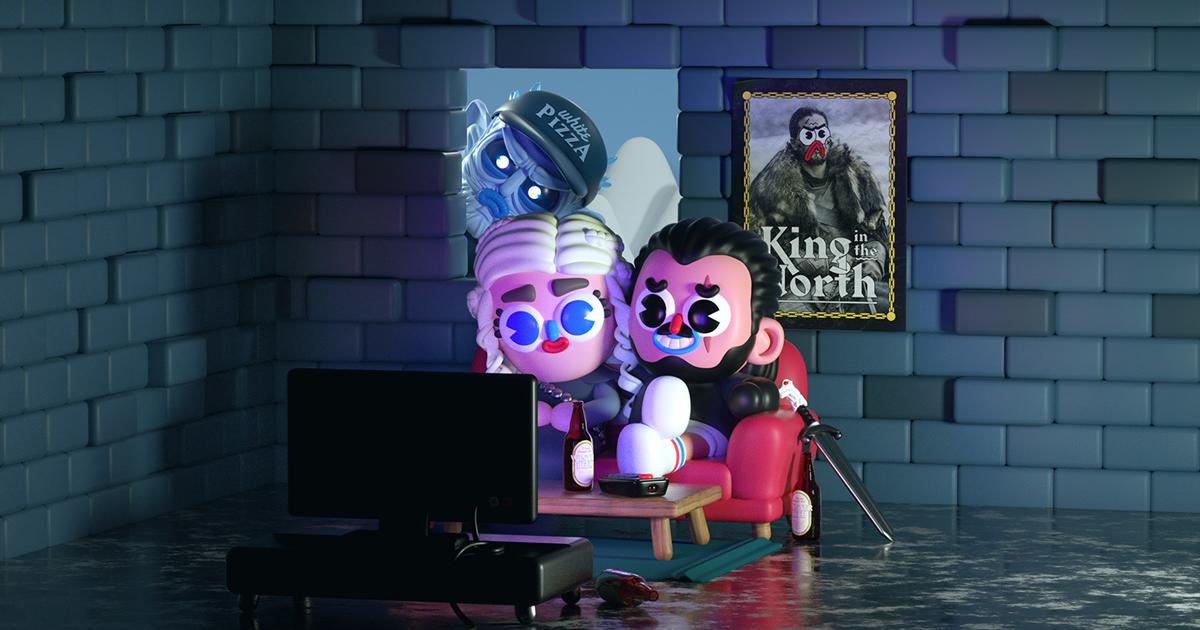 Bộ fan art 3D đáng yêu dành cho Game of Throne mùa 8