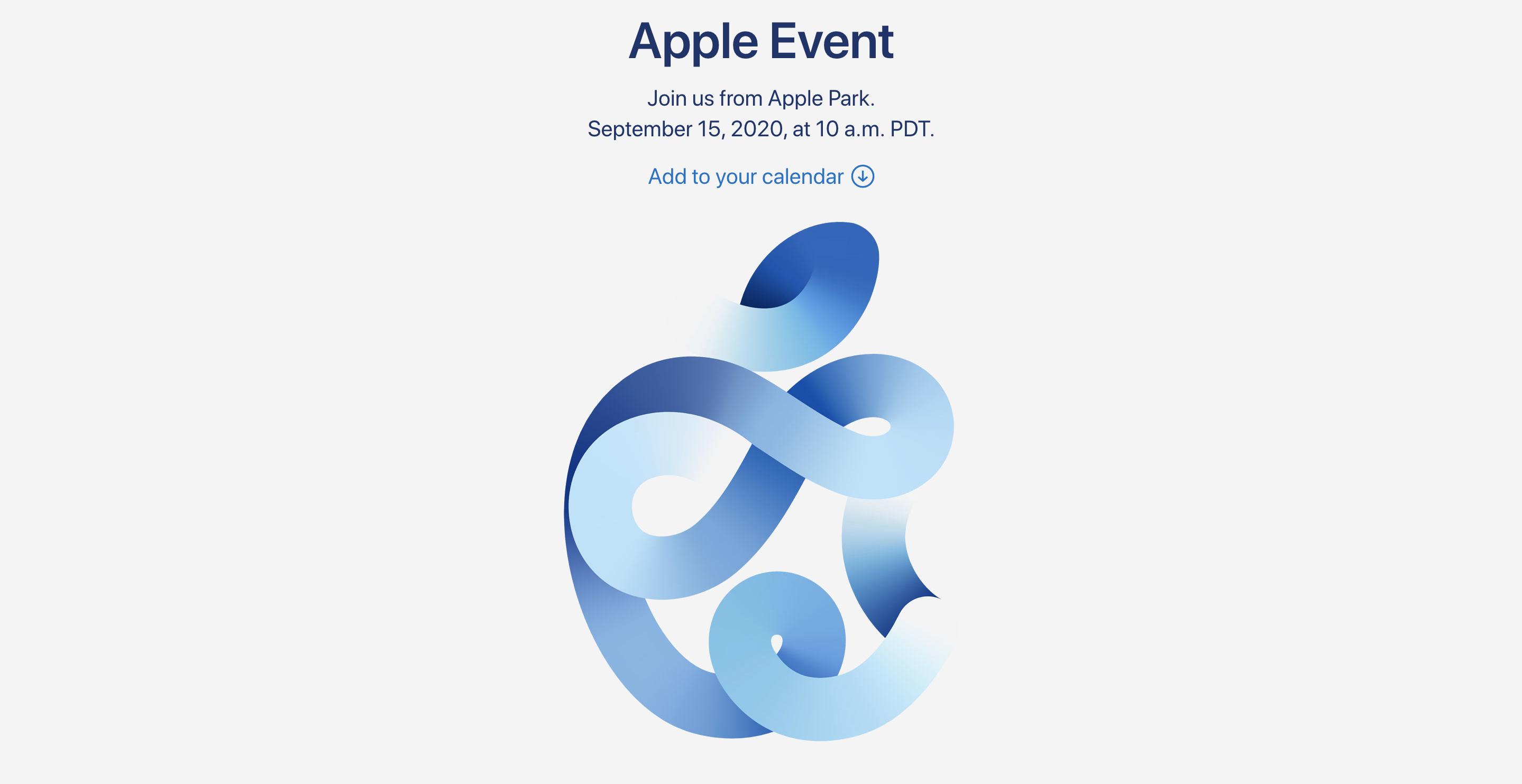Logo 'Táo xoắn' tại sự kiện Apple 2020