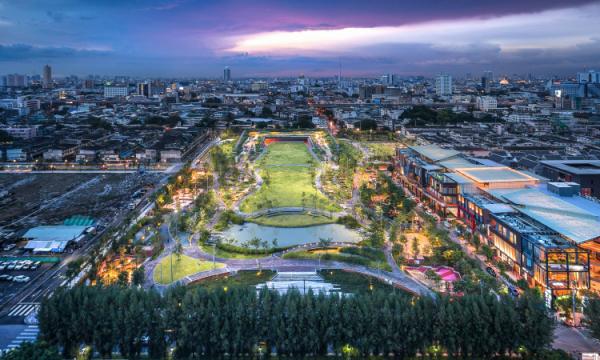 Dù cho Bangkok có ngập lụt nghiêm trọng, có một công viên vẫn tạo nên điều phi thường