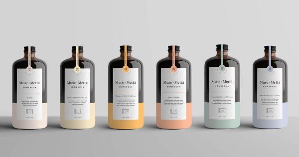 Muse+Metta - Thiết kế tối giản cho thương hiệu thức uống thảo dược