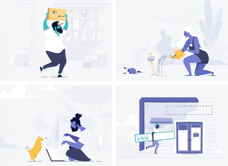 Kết nối điểm: Tại sao các thương hiệu công nghệ lại sử dụng hình minh hoạ?