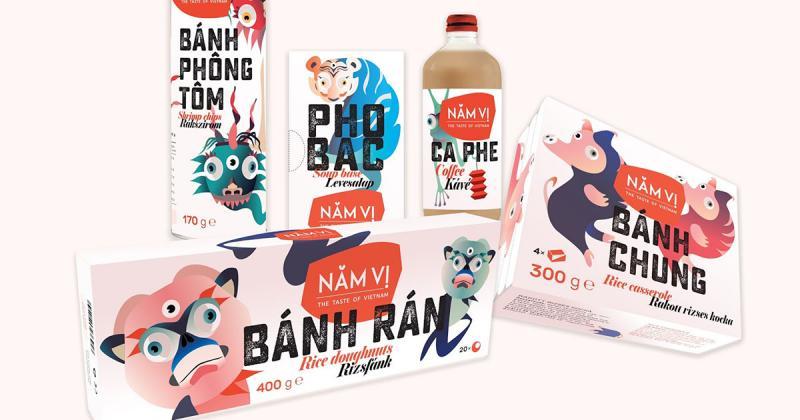 Năm Vị - Bộ nhận diện thương hiệu mang đậm nét Việt Nam