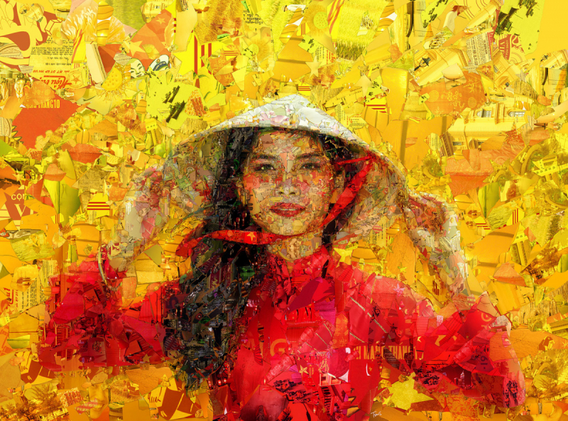 Những tác phẩm dựa trên nghệ thuật Mosaic của Charis Tsevis