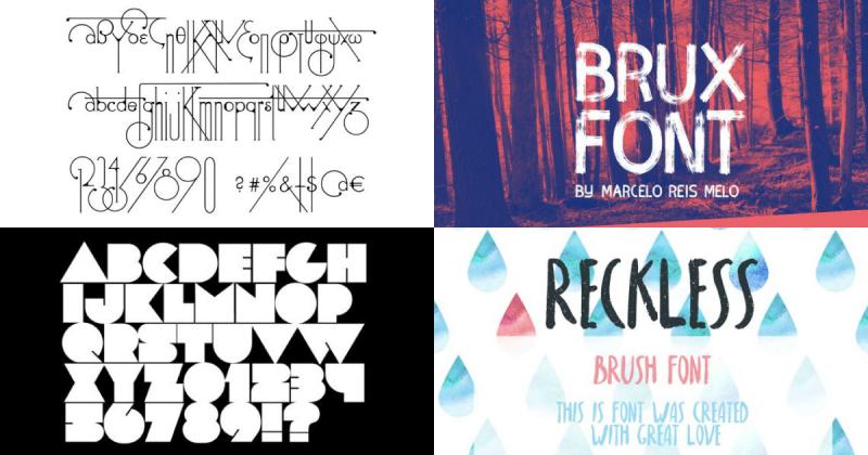 """60 phông chữ """"xịn"""" miễn phí cho Designer - Phần 2: Handwriting, Vintage và Retro, và Brush font"""