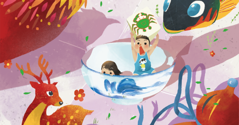 Vườn Illustration và những nét đẹp truyền thống ngày Tết