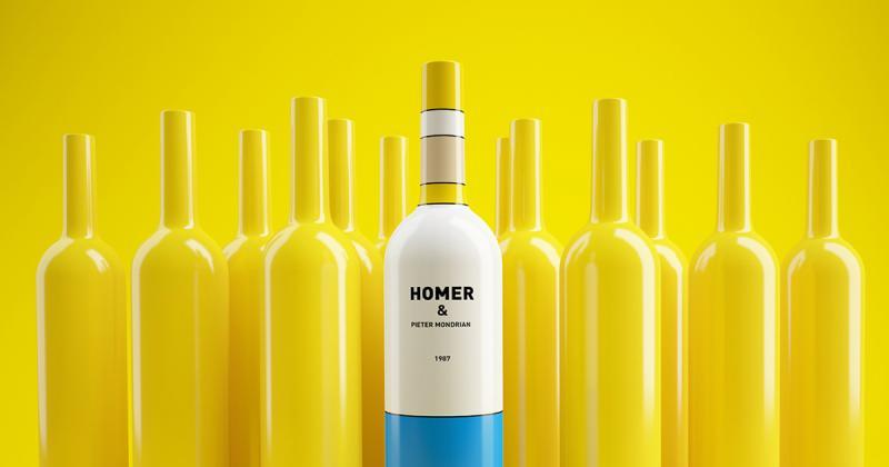 Homer Simpson và Pieter Mondriaan - cuộc hội ngộ xuất thần