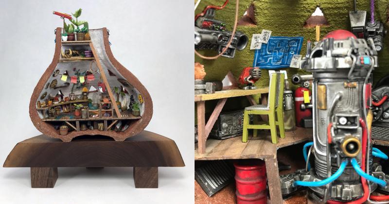 Ngắm nghía những studio nhỏ xinh trong lồng bình gốm