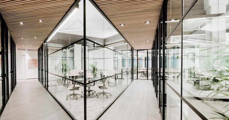 CANOPY - Coworking space đương đại với tông màu dịu dàng
