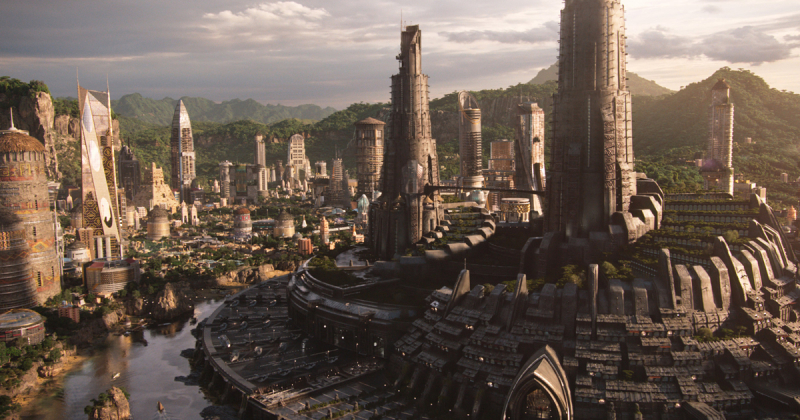 """Bộ phim """"lãng mạn"""" Black Panther chịu ảnh hưởng của nhà thiết kế sản xuất Zaha Hadid"""