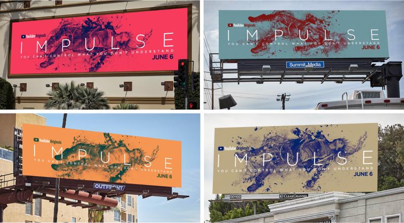 Thiết kế poster của Impulse - Bộ phim viễn tưởng độc quyền từ Youtube Red