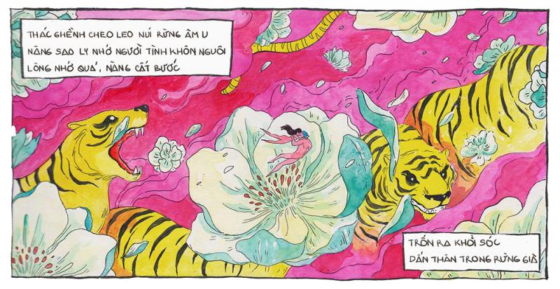 Trôi vào nỗi buồn trong 'Chuyện tình Sao Ly' qua nét vẽ của KAA Illustration
