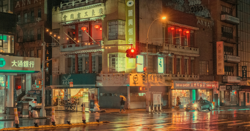 Cùng thăm thú khu phố Tàu New York trong buổi sáng tinh mơ sau cơn mưa