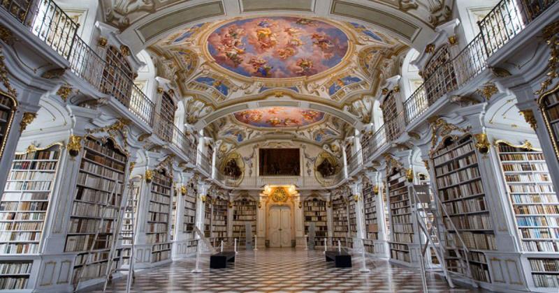 Thư viện thuộc nhà thờ lớn Admont - Nơi lưu giữ kiến thức cổ xưa của nhân loại