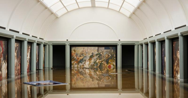 Bảo tàng Louvre ở Paris vừa mới bị ngập lụt?