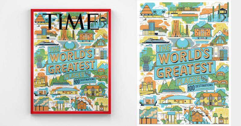 Minh hoạ 100 điểm đến hấp dẫn nhất thế giới trên báo Time