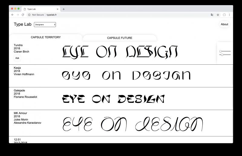 Typelab.fr - bộ sưu tập typography đậm tính thử nghiệm dành cho các designer