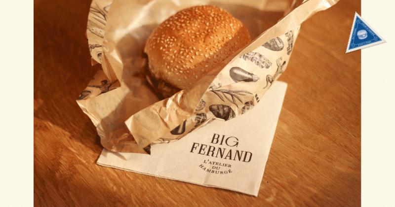 Big Fernand - Nhà hàng burger với bộ nhận diện vintage hoài cổ