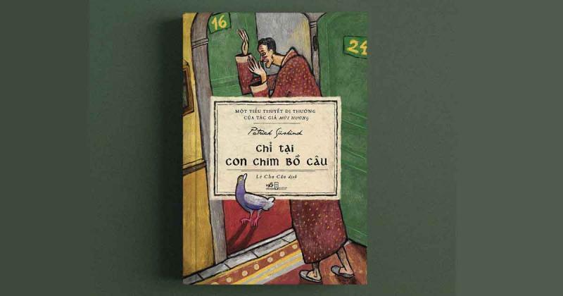 """Minh hoạ bìa sách """"Chỉ tại con chim bồ câu"""" với nét cọ phóng khoáng của hoạ sỹ Bùi Tâm"""