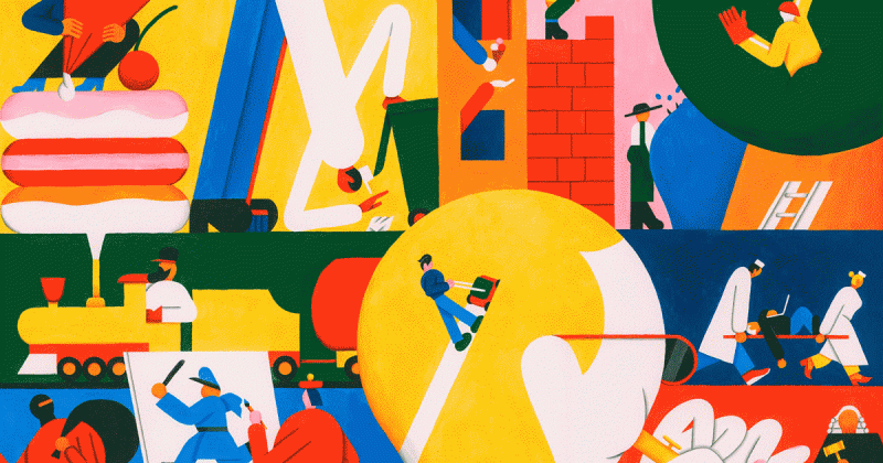 Nghệ sĩ của tuần: Roberts Rurans và những nhân vật hình học đơn giản