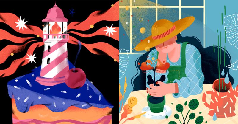 Nghệ sĩ Elena Resko minh hoạ cuộc sống qua nét vẽ tươi vui sặc sỡ