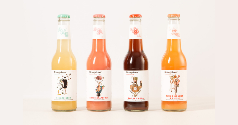Strangelove - Bao bì nước uống tăng lực với thiết kế mãn nhãn