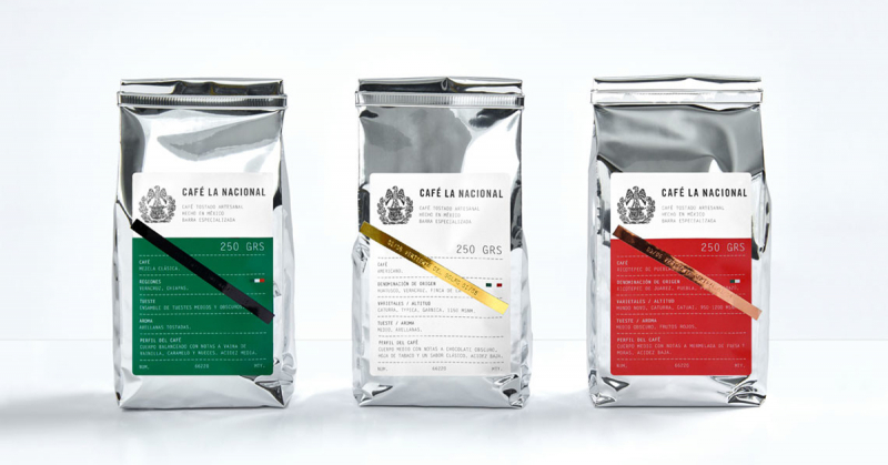 Café la Nacional - Bộ nhận diện cà phê gợi nhắc đến biểu tượng quốc kỳ