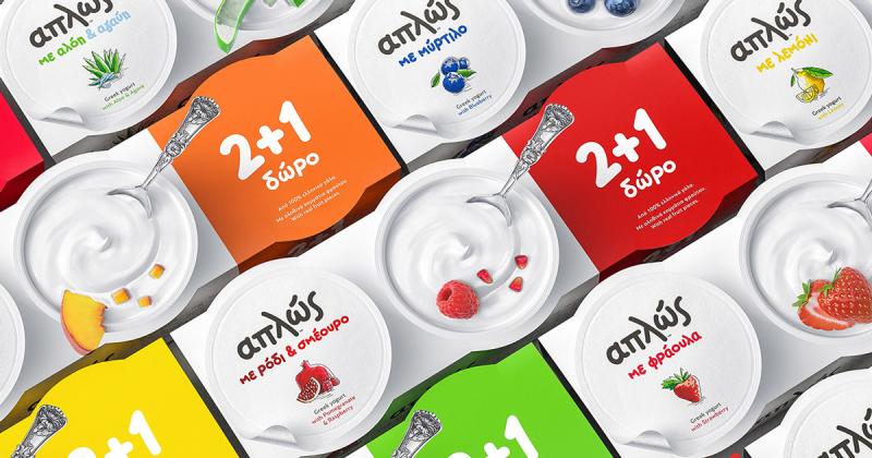 Thiết kế bao bì sống động cho dòng sữa chua trái cây từ Aplos