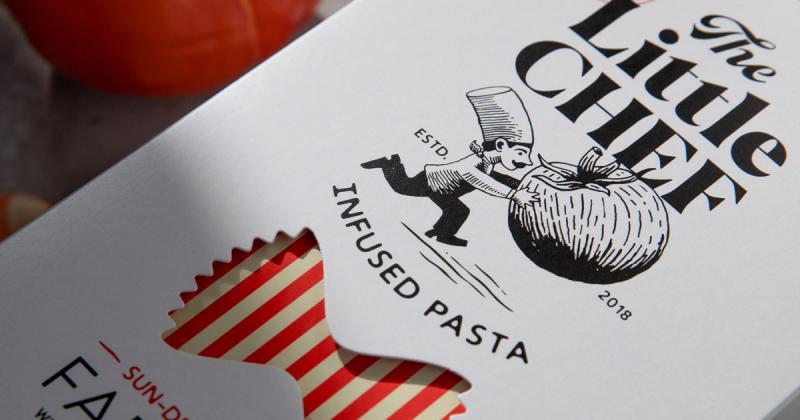 Bao bì mã vạch tàng hình của thương hiệu pasta The Little Chef