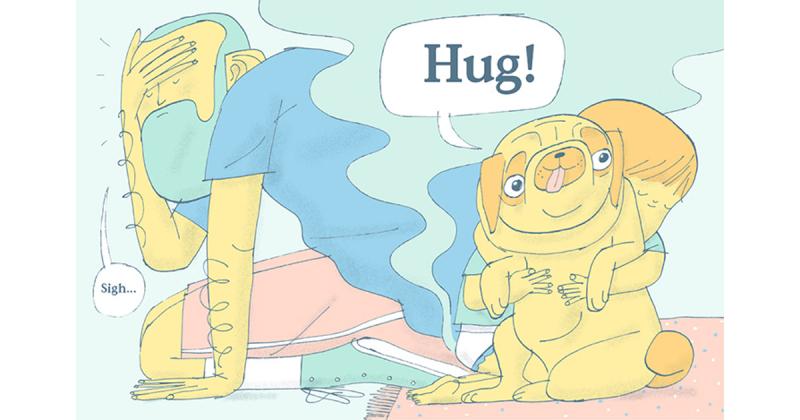 Don't Hug The Pug - Mẩu đối thoại ngô nghê giữa cha và con