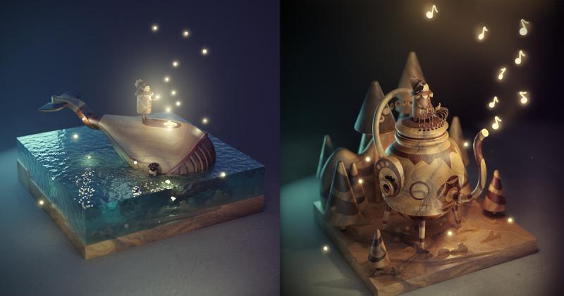 Nghệ sĩ 3D sáng tạo câu chuyện riêng dành tặng cô con gái nhỏ