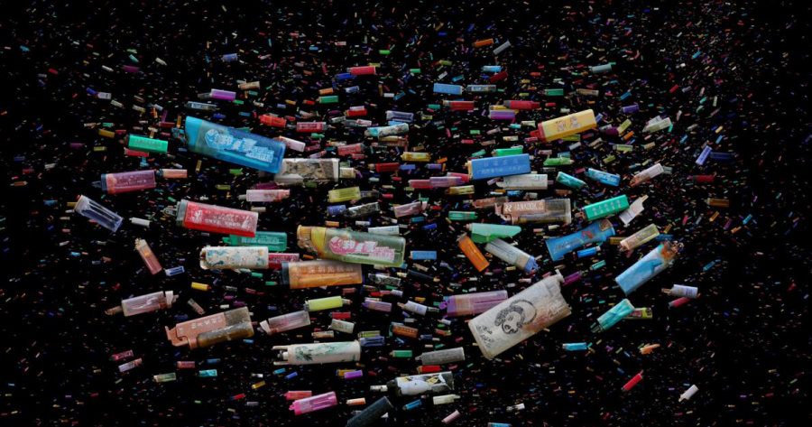 cigarette lighters mandy barker hong kong ocean trash art adapt 1190 1 1